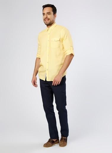 North Of Navy Uzun Kollu Gömlek Sarı